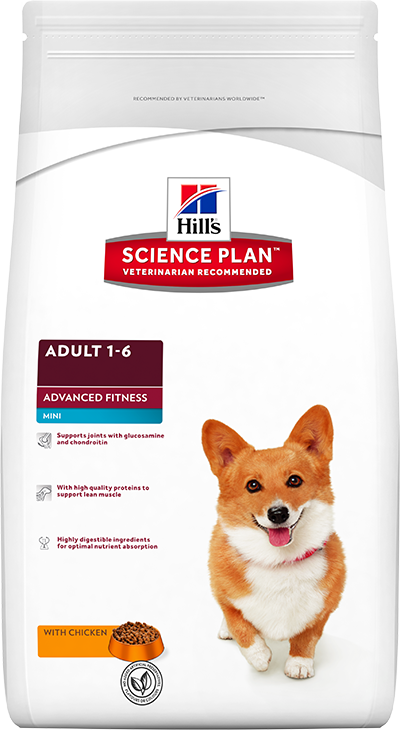 Сухой корм Hill's Science Plan Canine Adult Advanced Fitness™ Mini with Chicken для собак малых пород поддержание мускулатуры