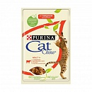 Консервы(пауч) для кошек Purina Cat Chow Adult 1+, говядина и баклажаны в желе